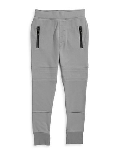 Hip And Bone Organic Cotton Moto Joggers-GREY-Large 87963390_GREY_Large