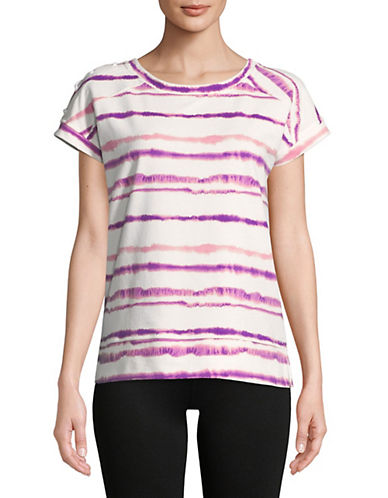Marc New York Performance Tie-Dye Striped Cotton Tee 90193189