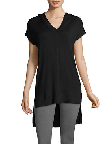 Marc New York Performance Hi-Lo Cap-Sleeve Top-BLACK-X-Small 90017128_BLACK_X-Small