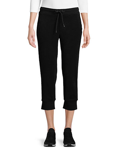 Marc New York Performance Cropped French Terry Jogger Pants-BLACK-Medium 90017106_BLACK_Medium