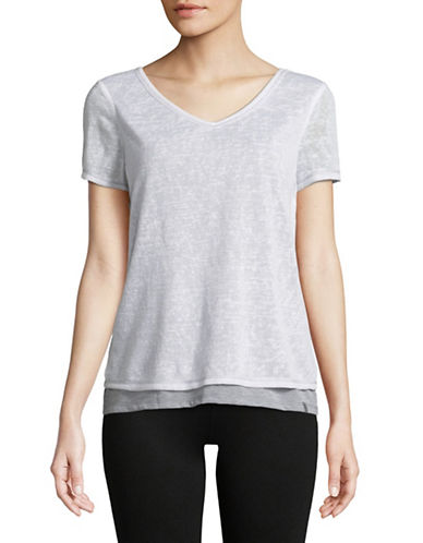 Marc New York Performance Layered Short-Sleeve Tee-WHITE-Medium 89970597_WHITE_Medium