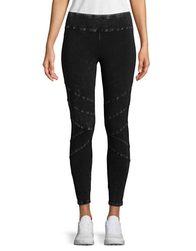 Marc New York Performance Mineral-Wash Seamed Leggings-BLACK-Large 89970560_BLACK_Large
