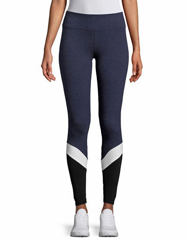 Marc New York Performance Colourblock Leggings-NAVY HEATHER-X-Small