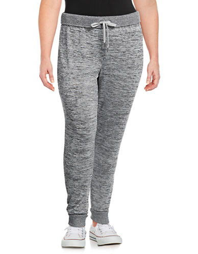 Marc New York Plus Heathered Jogger Pants-GREY-1X