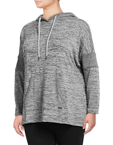 Marc New York Plus Hooded Long-Sleeve Top-GREY-2X
