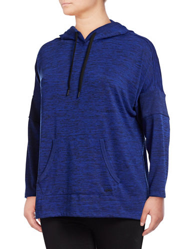 Marc New York Plus Hooded Long-Sleeve Top-BLUE-3X