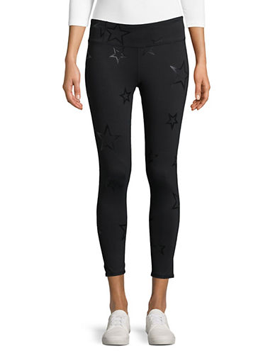 Marc New York Performance Glossy Star Print Leggings-BLACK-Medium 90017097_BLACK_Medium