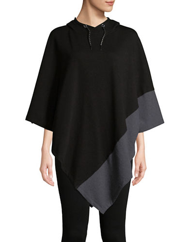 Marc New York Performance Colourblocked Poncho-BLACK-S/M