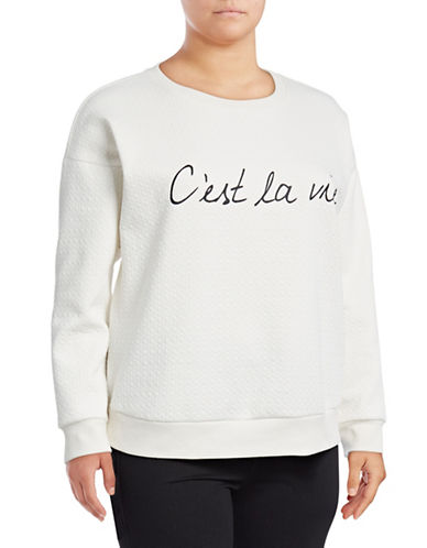 Marc New York Plus Banded C Est La Vi Sweatshirt-NATURAL-1X