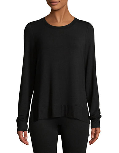 Marc New York Performance Long-Sleeve Hi-Lo Pullover-BLACK-Large