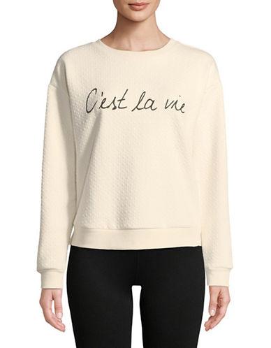 Marc New York Performance Cest La Vie Sweatshirt-IVORY-X-Large