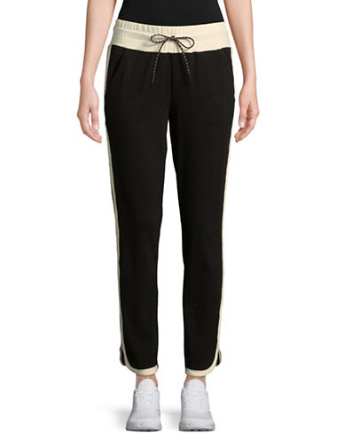 Marc New York Performance Colourblock Jogger Pants-BLACK/IVORY-Medium