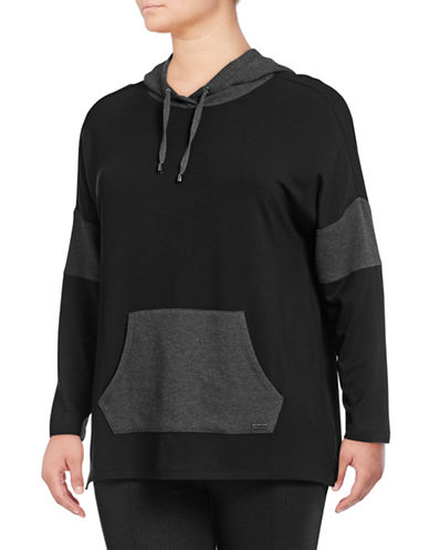 Marc New York Plus Plus Thermal Hooded Tunic-BLACK-1X