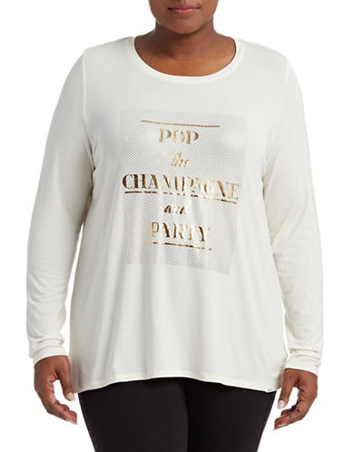 Marc New York Plus Plus Champagne and Party Tee-IVORY-1X