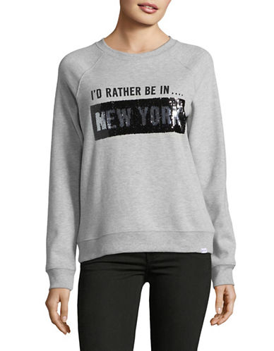 Marc New York Performance Sequin Sweatshirt-GREY-Large