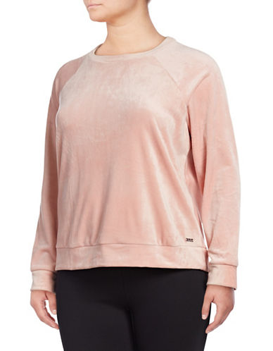 Marc New York Plus Plus Velvet Pullover-PINK-1X