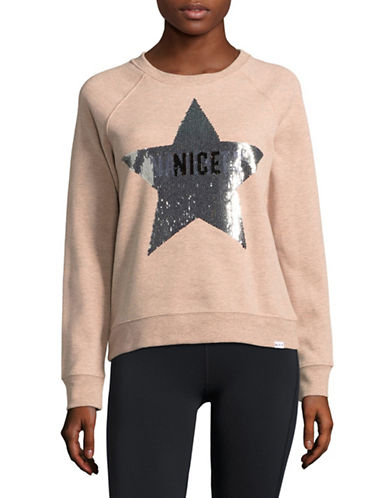 Marc New York Performance Graphic Sequin Pullover-PINK-Large