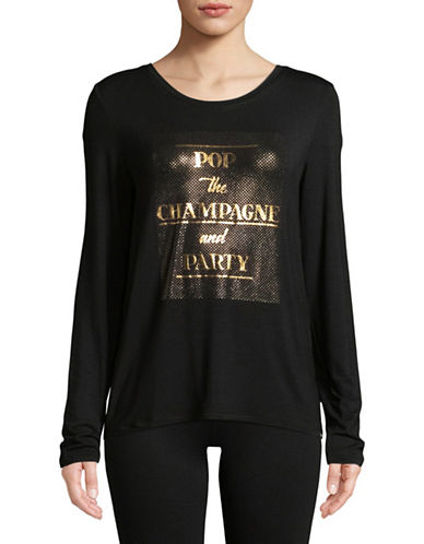 Marc New York Performance Champagne Party Foil Tee-BLACK-Small 89704590_BLACK_Small