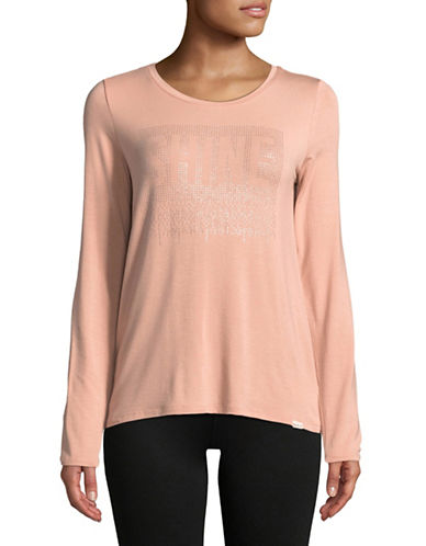 Marc New York Performance Shine Graphic Long Sleeve Tee-PINK-X-Large