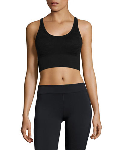Marc New York Performance Lace Sport Bra-BLACK-Large