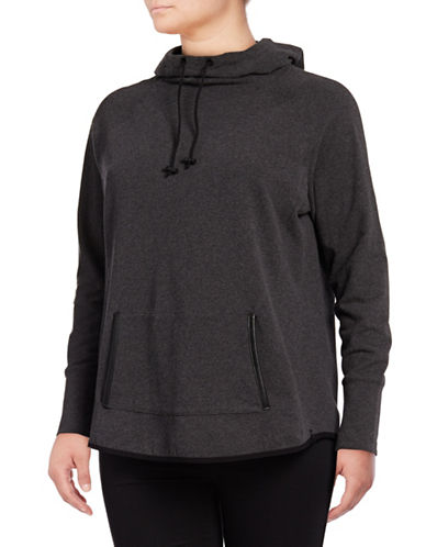 Marc New York Plus Drape-Neck Hoodie-GREY-2X