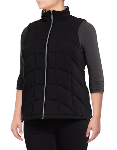 Marc New York Plus Knit Packable Vest-BLACK-2X