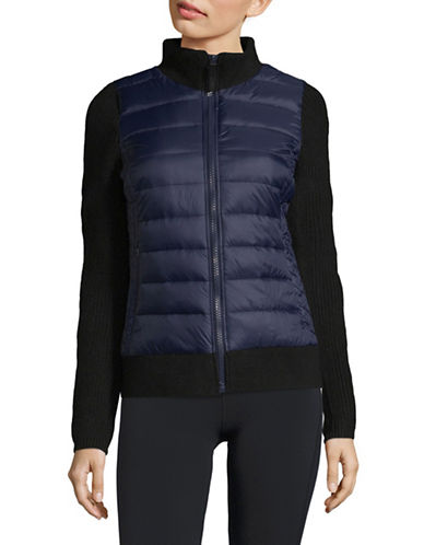 Marc New York Performance Quilted Sweater Jacket-BLUE-Large