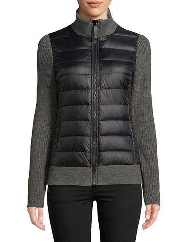 Marc New York Performance Quilted Sweater Jacket-GREY-Medium