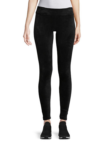 Marc New York Performance Velvet Banded Leggings-BLACK-X-Large 89704543_BLACK_X-Large