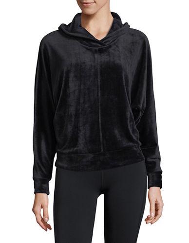 Marc New York Performance Velour Pullover Hoodie-BLACK-Medium