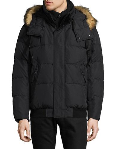 Marc New York Faux Fur Trim Down Bomber Jacket-BLACK-Large 89298653_BLACK_Large