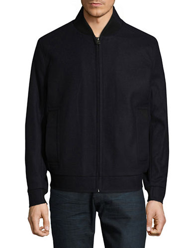 Marc New York Zip-Up Bomber Jacket-BLUE-Large