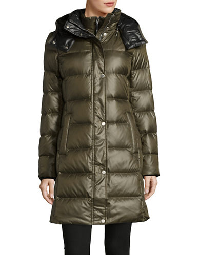 Marc New York Quilted Hood Parka-OLIVE-Large