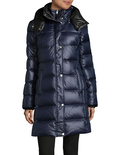 Marc New York Quilted Hood Parka-NAVY-Small