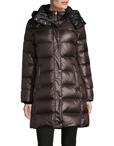 Marc New York Quilted Hood Parka-GREY-X-Small