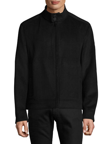 Marc New York Double Faced Moto Jacket-BLACK-Large