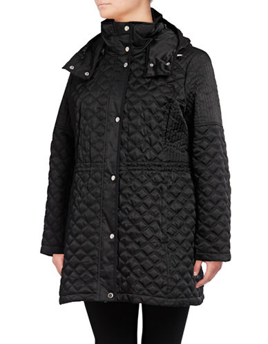Marc New York Quilted Anorak Jacket-BLACK-1X