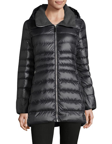 Marc New York Sweater-Weight Quilted Jacket with Premium Down-GUNMETAL-Large