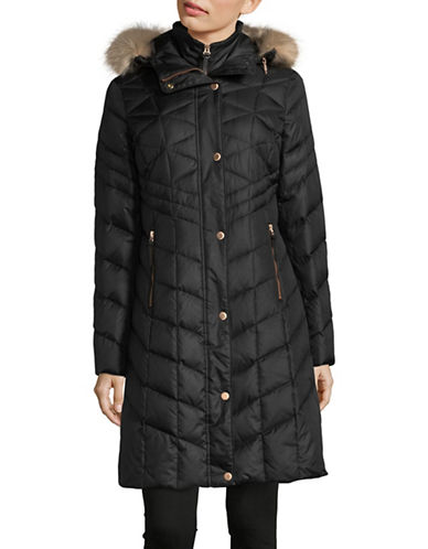 Marc New York Quilted Hood Parka-GUNMETAL-X-Small