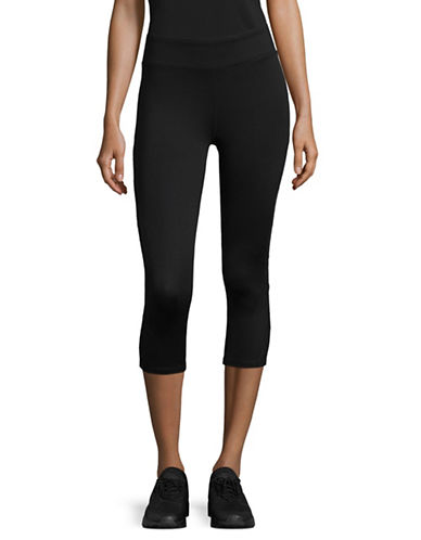 Marc New York Performance Classic Capri Leggings-BLACK-X-Small