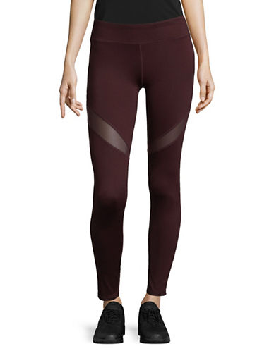 Marc New York Performance Compression Mesh Leggings-BURGUNDY-Large