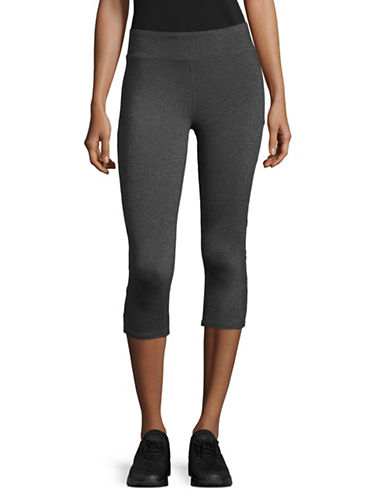 Marc New York Performance Classic Capri Leggings-GREY-Medium