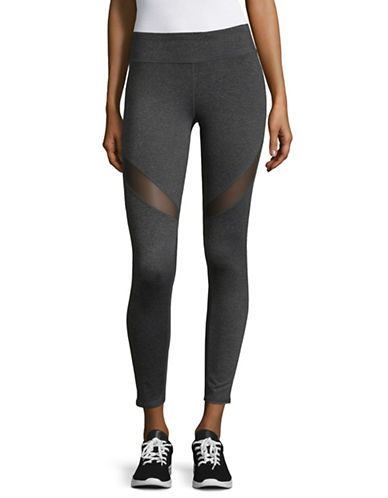 Marc New York Performance Compression Mesh Leggings-GREY-X-Small