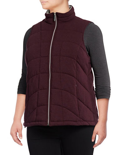 Marc New York Plus Knit Packable Vest-BURGUNDY-1X