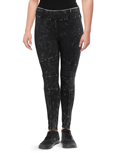 Marc New York Plus Moto Stitch Leggings-BLACK-1X