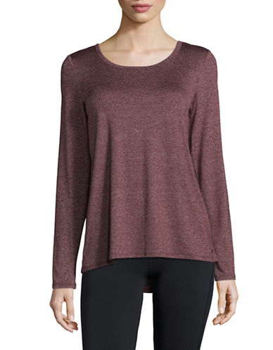 Marc New York Performance Lace-Up Back T-Shirt-BURGUNDY-Medium