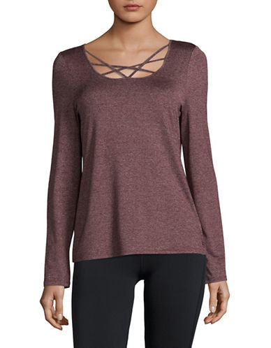Marc New York Performance Strappy Front T-Shirt-BURGUNDY-Small 89428104_BURGUNDY_Small