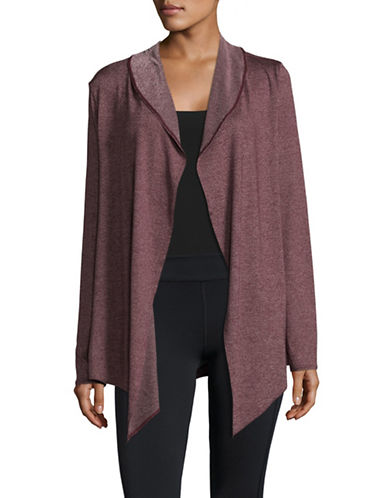 Marc New York Performance Cascade Cardigan-BURGUNDY-Medium