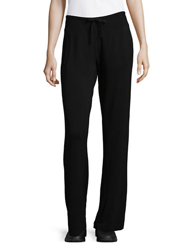 Marc New York Performance Ribbed Waist Drawstring Pants-BLACK-X-Large