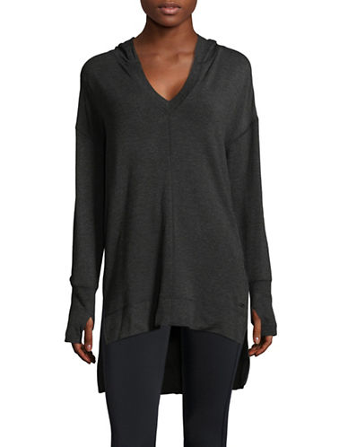Marc New York Performance Hi-Lo Hooded Tunic-GREY-Medium